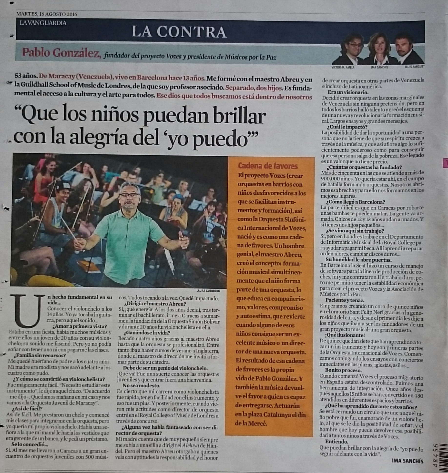 16-8-16_Entrevista Pablo González y VOZES en LaVanguardia