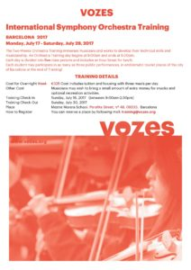 VOZES International Orquestra Training_Barcelona 2017